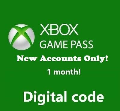 Xbox Game Pass, 1 Month Trial Subscription code, Xbox One, Only for New Accounts