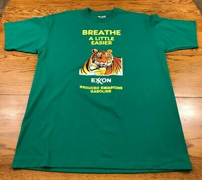 Vintage Exxon Gas Tiger T Shirt Adult XL Gas Oil Advertising T Shirt Excellent