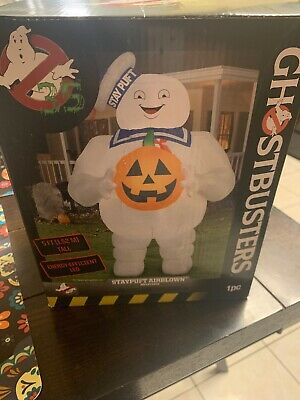 5 FT GHOSTBUSTERS STAY PUFT MARSHMALLOW MAN Halloween Airblown Yard Inflatable