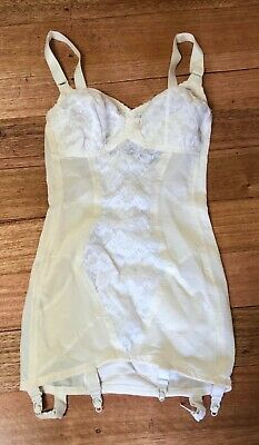 Vintage Ladies 1950'S Girdle Slim Wear Fashion All In One Nylon Lace