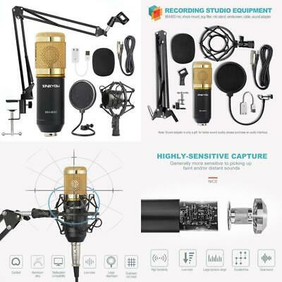 Zingyou Condenser Microphone Bundle, Bm-800 Mic Kit With Adjustable Mic Suspensi
