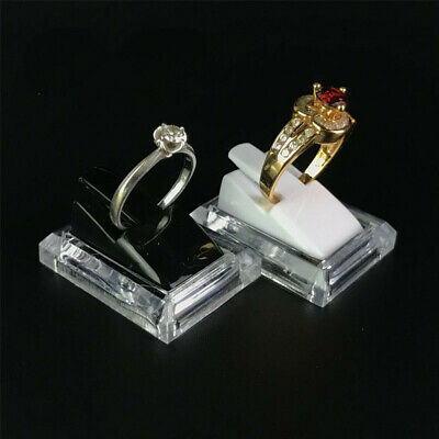 3 Finger ring displays black solid acrylic ring display ring stands JD022