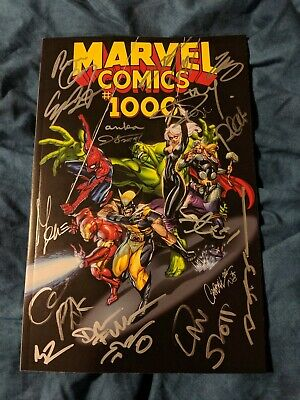 Marvel Comics #1000 (2019 Marvel)  J Scott Campbell Variant~ Multi Signed Nm-