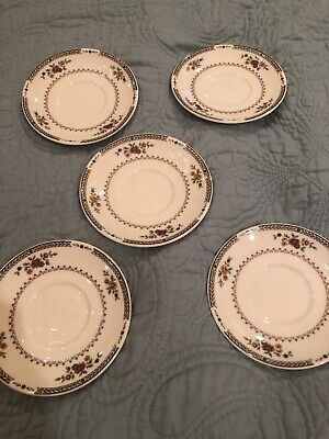 Royal Doulton Fine China KINGSWOOD Saucers T.C.1115Made In England Set Of 5