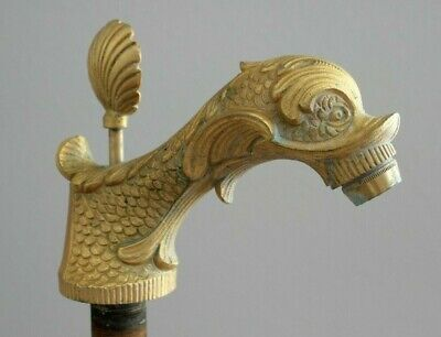 Vintage Sherle Wagner Gold Dolphin Faucet
