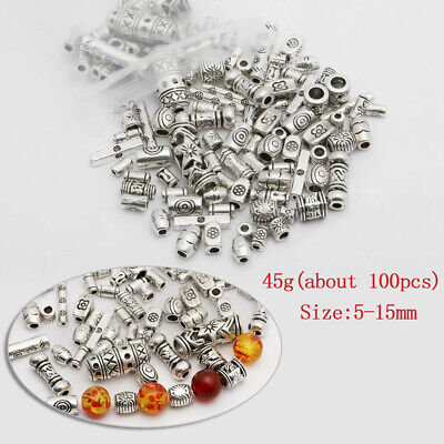 60pcs Tibetan Silver Daisy Spacers Beads H0024