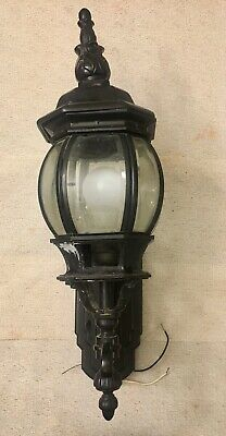 Vintage Cast Iron Wall Mount Porch Light Made In Italy Heavy Impressive Piece