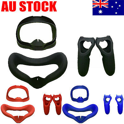For Oculus Quest VR Protective Eye Mask Face Cover Controller Case Silicone #AU