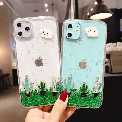 For Apple iPhone 11 Pro Max XS XR 8 7 Plus Cute Cactus Soft IMD Slim Case Cover