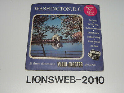 3x View Master Bildscheibe Washington D.C. - Reel