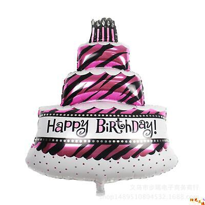 44 Inch 3 Tier Giant Extra Large Happy Birthday Cake Shaped Foil Party Balloons