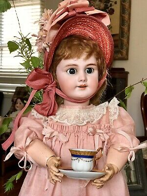 Antique  Bisque French DEP Doll .