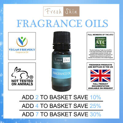 10ml Fragrance Oils | Famous Scents | Candle, Bath Bombs, Soap Making & Wax Melt