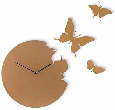 Diamantini Domeniconi BUTTERFLY turtledove Wall clock with kit 3 butterflies