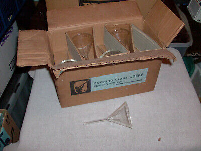 Corning Glass Works Pyrex Labortory Glassware Funnel Box Of 10 Pieces New # 6180