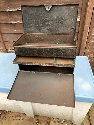 Vintage Industrial Metal Engineers Tool Box