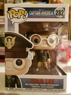 Funko Pop Marvel Captain America The First Avenger Stan Lee #282 w/ Protector