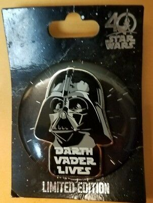 Star Wars 40th Anniversary Darth Vader Lives Pin/Button LE 4000