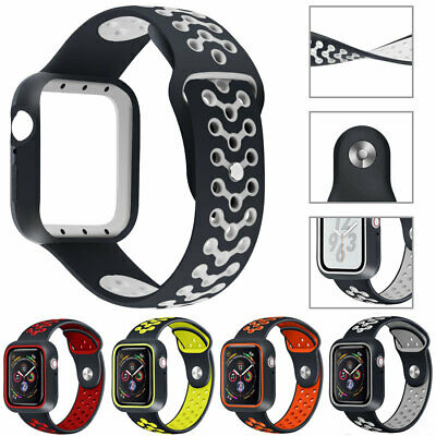 For Apple Watch 40/44/38/42 Silicone Watch Band Strap iWatch 5 4 3 2 1 Wristband