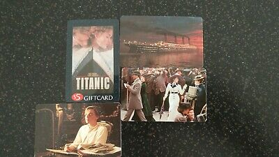 Blockbuster Gift Cards (4) Titanic movie  No Value
