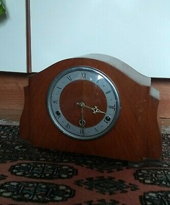 Antique Art Deco Anvil Mantle Clock* Westminster Chime* Running*