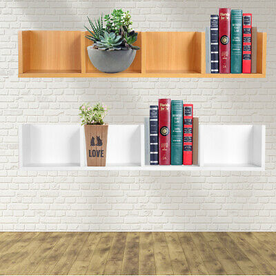Wall Mount Shelf Display Unit Wall Storage Shelves Floating Wooden Book Mounted