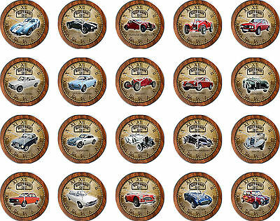Wall Clock with Historic Vehicles Historic & Classic Car - Brand a Classic Car