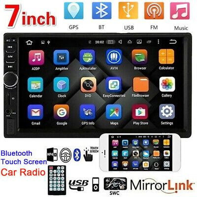 "7"" Double 2 DIN Car Stereo Radio MP5 Bluetooth Touch Screen USB AUX Player HOT"