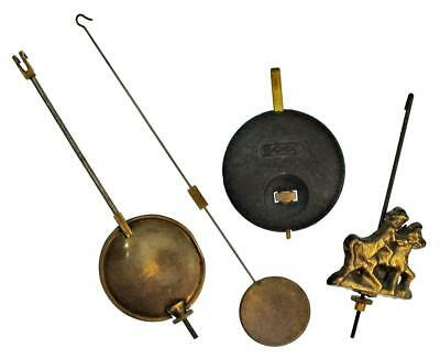 Four Clock Pendulums / Weights Job Lot