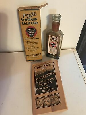 Pratt's Veterinary Colic Cure Cannabis Indica, Handblown Bottle & Box