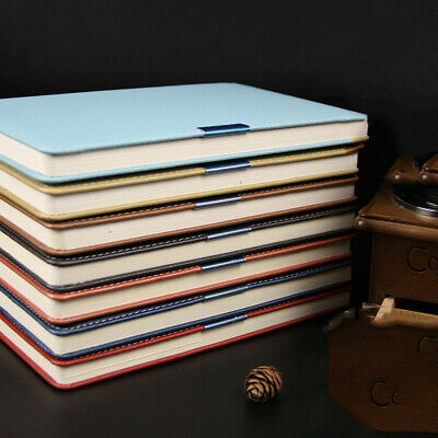 A5 PU Leather Cover Journal Notebook Lined Paper Diary Business Planner Freenote