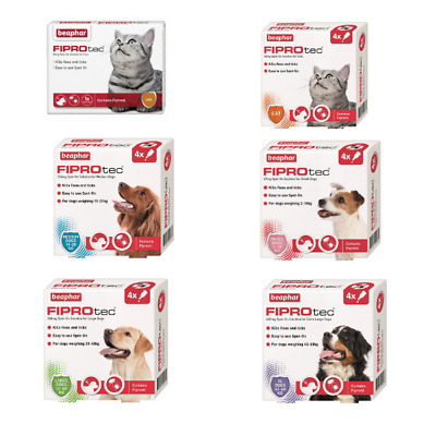 Beaphar FIPROtec Flea & Tick Spot On Solution For Dogs or Cats
