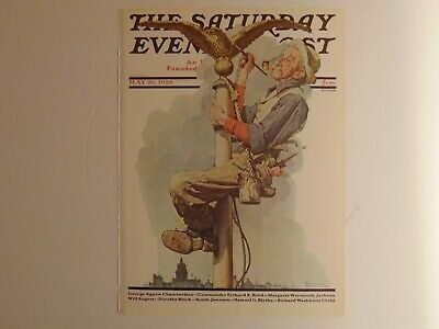 The Saturday Evening Post May 26 1928 (REPRINT) Norman Rockwell (COVER ONLY)