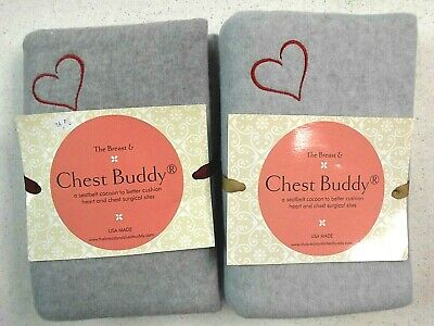 2 Breast & Chest Buddy Seatbelt Cushions Mastectomy Chest Surgery Site Red Heart