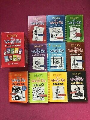 Jeff Kinney Diary of a Wimpy Kid Box Set & Hard Book Double Down 13 Books