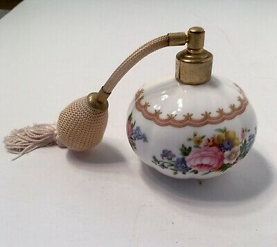 "Vintage Royal Albert 1944 ""Lady Carlyle"" Perfume Atomizer Bone China England"