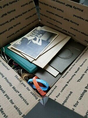Large Junk Drawer Jewelry Misc Gold Old Photos Medals Asst Collectibles Lot 3