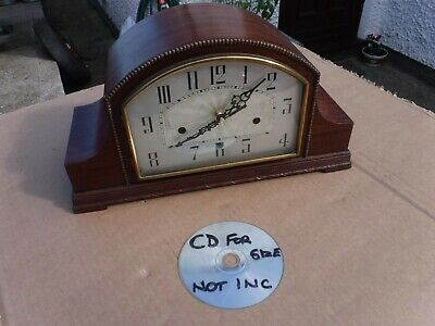 Stunning  Vintage  Art  Deco  Mantel Clock.  Converted & Working.