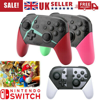 Wireless Bluetooth Pro Controller Gamepad Charging Cable for Nintendo Switch UK