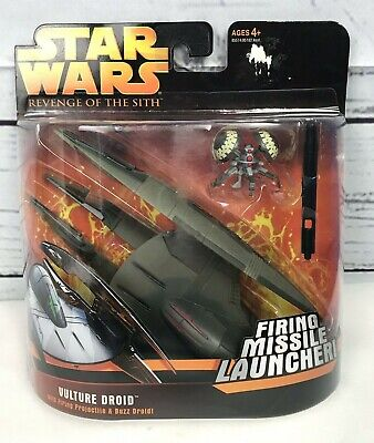 Hasbro Star Wars Revenge of the Sith VULTURE DROID w/ Firing & Buzz Droid NEW