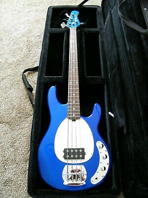 OLP Ernie Ball 4 String Bass Blue Sounds Awesome Professionally Set-up
