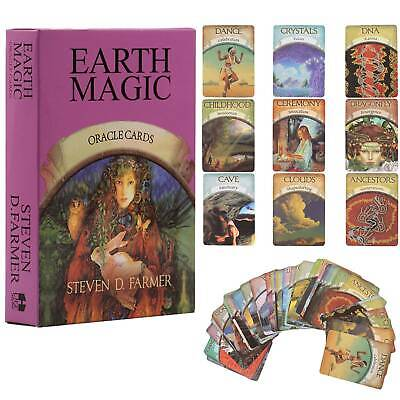 48pcs Magic Oracle Cards Earth Magic Read Fate Tarot Telling Cards Deck Set Gift