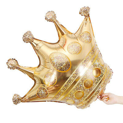 48 Inch Giant Extra Large Gold Crown Balloon Party Anniversary Celebration