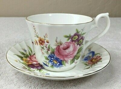 Vintage Fine Bone China Cup and Saucer by HM Royal Sutherland England