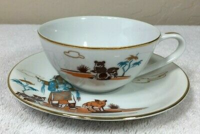 Vintage Fine Bone China Cup and Saucer by Knox Japan Hen-Toh Acee Blue Eagle