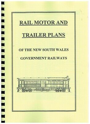 Rail Motor & Trailer Plans Of The Nsw Govenment Railways
