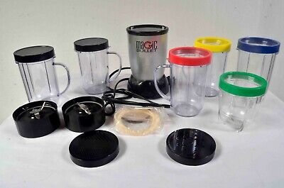 Magic Bullet MB1001 blender and accessories.