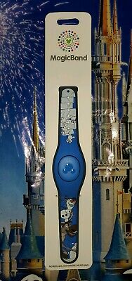 NEW Disney Parks Frozen 2 Olaf Sven Snowgies Magic Band 2 Blue LINK IT LATER