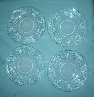 Princess House Fantasia  Set Of Four  Saucers' No Cups'  Vg