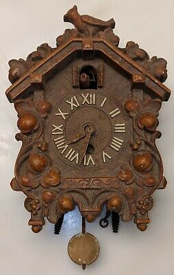 LUX USA Classic-Style Cuckoo Clock complete with Plastic Face